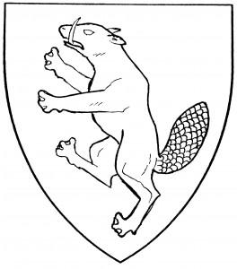 Beaver rampant (Period)