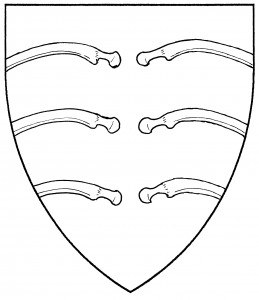 Three pairs of rib bones (Period)