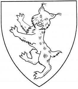 Lynx rampant guardant (Period)