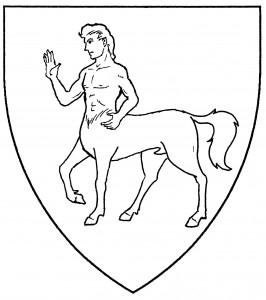 Centaur passant (Period)