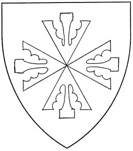 Cross of four pheons, conjoined at the points (Accepted)