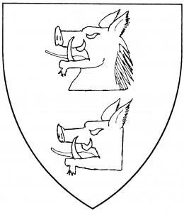 Boar's head couped (Period); boar's head couped close (Period)