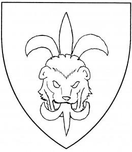 Lion's head jessant-de-lys (Period)