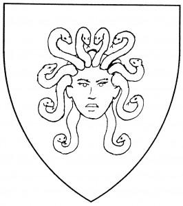 Gorgon's head cabossed (Period)