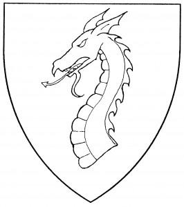 Dragon's head couped (Period)