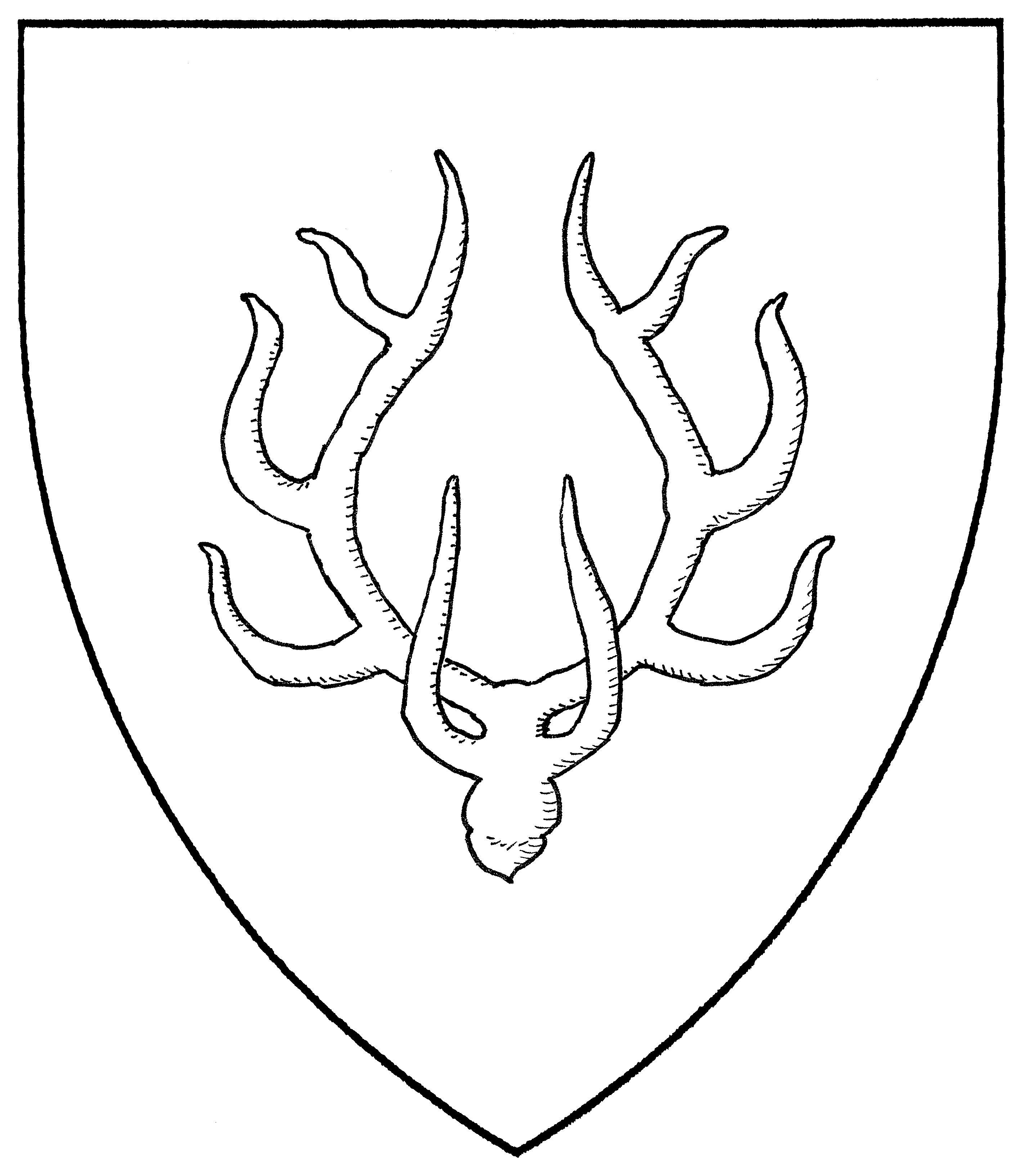 heraldic stag vector