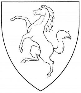 Horse rampant (Period)