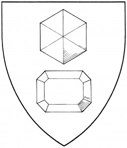 Hexagonal gemstone (Period); step-cut gemstone (Accepted)