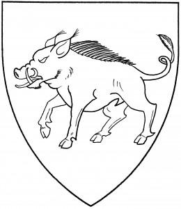 Boar passant (Period)