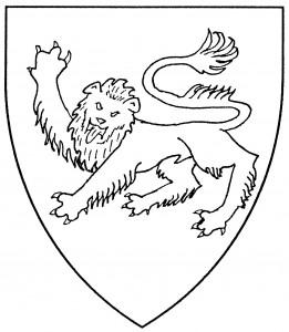 Lion passant guardant (Period)