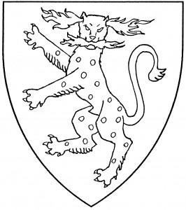 Panther rampant guardant (Period)