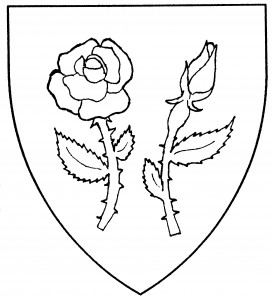 """Garden rose"" slipped and leaved (SFPP); garden rosebud slipped and leaved (Disallowed)"