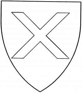 Saltorel, or saltire couped (Period)