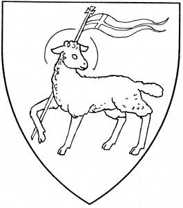Paschal lamb passant reguardant (Period)