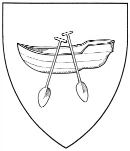 Rowboat with two oars (Period)