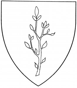 Slip, or branch, with leaves (Period)