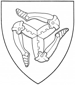 Triskelion of armored legs (Period)