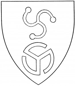 Triskelion pommetty (Accepted); triskelion gammadion in annulo (Disallowed)