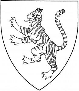Bengal tiger rampant (SFPP)