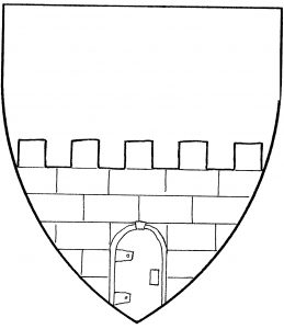 Wall issuant from base, with door (Period)