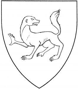 Werewolf passant reguardant (Period)