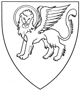 Lion of St. Mark statant guardant (Period)