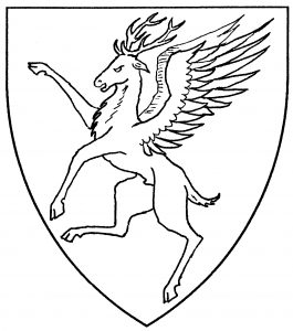 Winged stag segreant (Accepted)