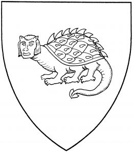 Tarasque statant guardant (Accepted)
